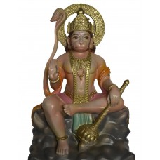 Hanuman sitting on a rock