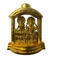 Laxmi Ganesh Sitting Gold Finish